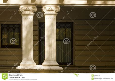 Decorative Top Of A Column by Decorative Columns Residential Architecture Stock Image