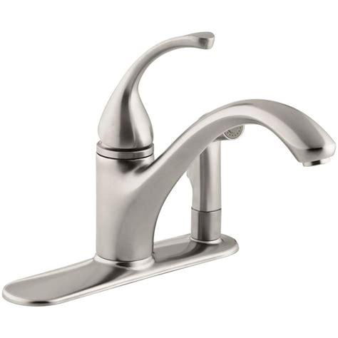 kohler forte single handle standard kitchen faucet with delta windemere 2 handle standard kitchen faucet with side