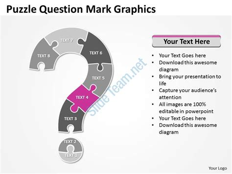 business powerpoint templates puzzle free question mark