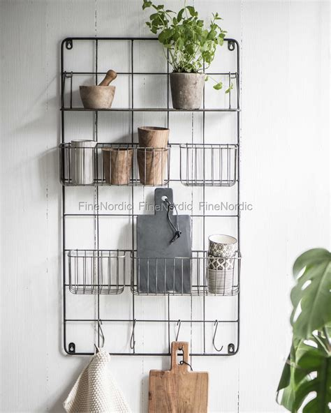 etagere zink ib laursen hanger with 4 baskets 1 shelf and 5 hooks altum
