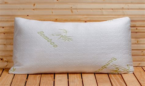 cheap breathable comfort natural bamboo pillow for adults memory foam pillows 1 or 2pk groupon goods