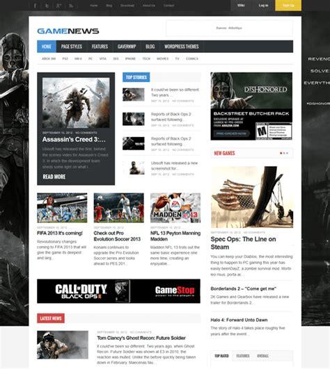 themes games for wordpress 5 more of the best wordpress gaming themes down