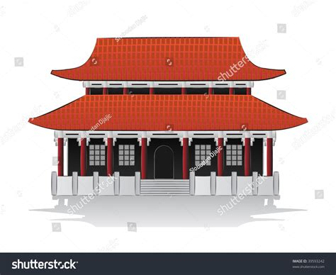 chinese house music chinese house illustration stock vector 39593242 shutterstock