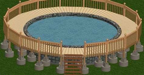 marvelous  pool deck plan  wooden pool deck