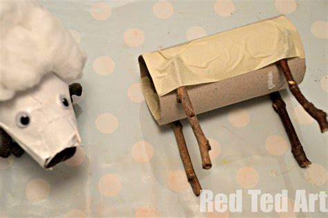 How To Make Sticks With Toilet Paper Rolls - toilet paper rolls crafts time sheep