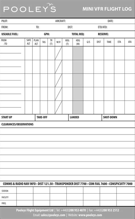 flight log template kneeboards flight boards log pads flight log pads