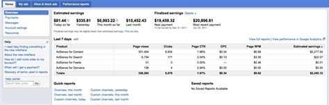 adsense overview google adsense improve home page reporting