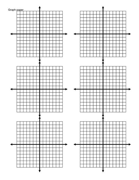 Printable Graph Paper With 6 Graphs | 6 best images of printable coordinate picture graphs