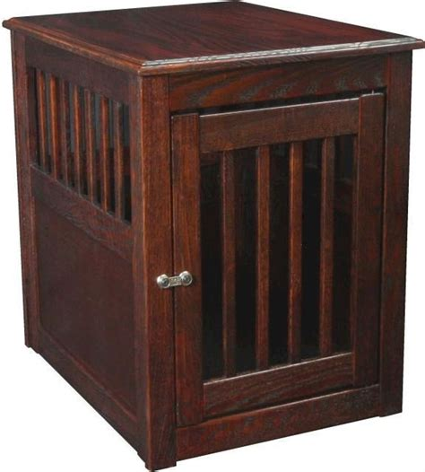 kennel end table oak end table wood crate kennel carrier decorative ebay