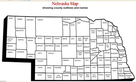 nebraska county map map of nebraska counties with names swimnova