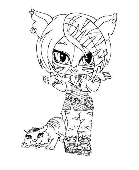little monster high coloring pages little baby monster high print coloring pages for kids