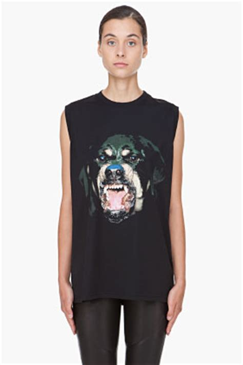 givenchy top rottweiler givenchy black rottweiler tank top for ssense