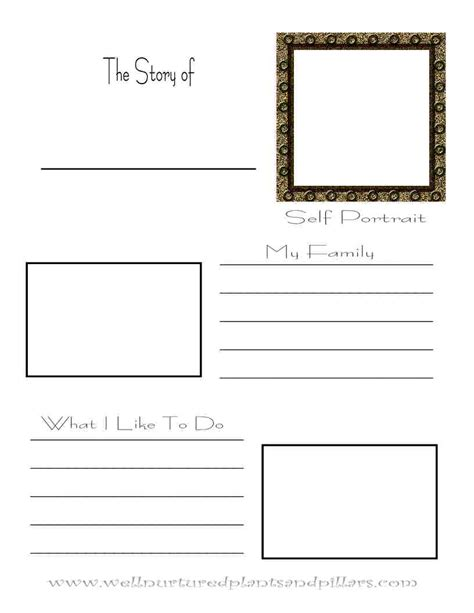 Pattern In Writing Autobiography | freebie friday autobiography printable plants and pillars