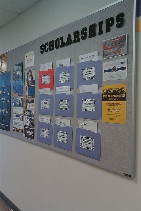 Room And Board Scholarships by A Great Idea For A Scholarship Information Bulletin Board