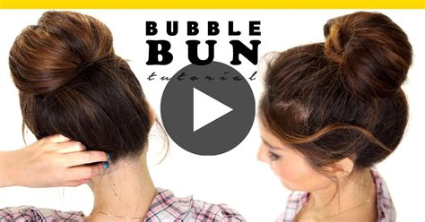 bubble hairstyle 2 minute bubble bun hairstyle easy hairstyles for medium