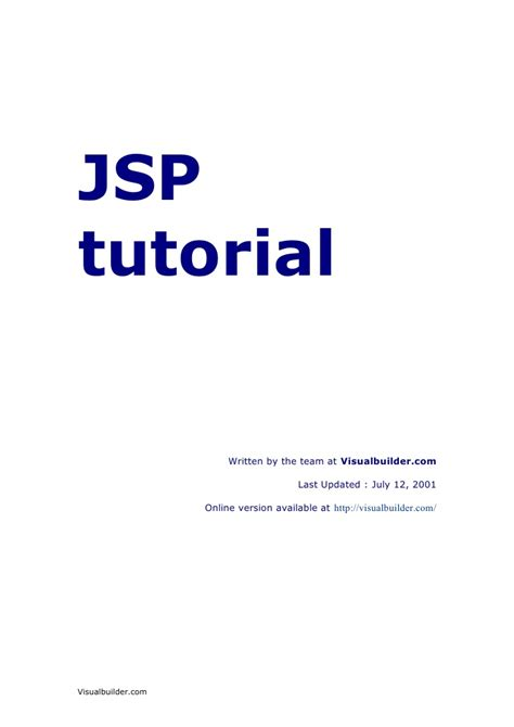 tutorial web jsp jsp tutorial