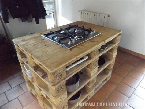 Superb Construire Table De Jardin Avec Palette #4: Comptoir-de-cuisine-avec-un-po%C3%AAle-en-palettes-2.jpg