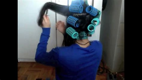 how to use plastic hair rollers on short hair plastic hair rollers youtube