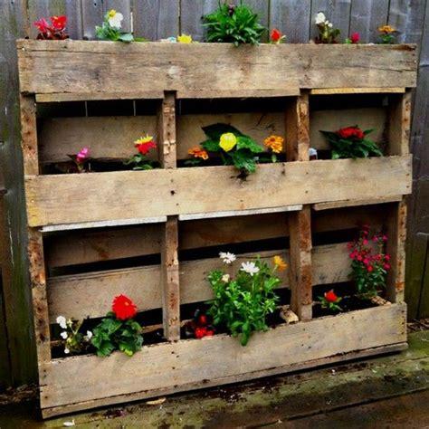 pallet flower bed wooden pallet flower box flower bed pinterest
