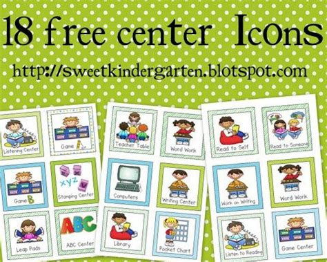 printables for kindergarten centers kindergarten kindergarten literacy and daily 5 on pinterest