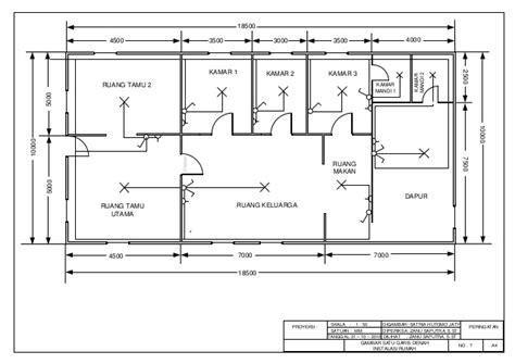 gambar layout ruangan gambar satu garis denah instalasi rumah