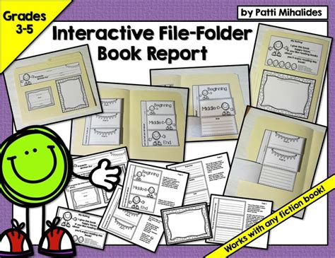 file folder book report interactive file folder book report for gr 3 5