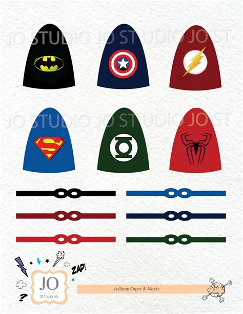 8 best images of printable superhero lollipop printable