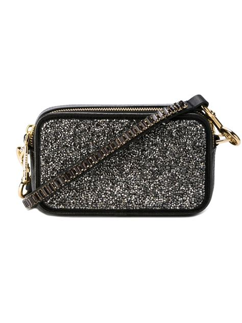 Marcjacobs Snapshot Black marc snapshot crossbody bag in black lyst