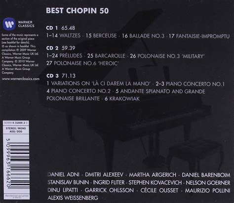chopin the best 199 e蝓itli sanat 231 莖lar 50 best chopin cd opus3a
