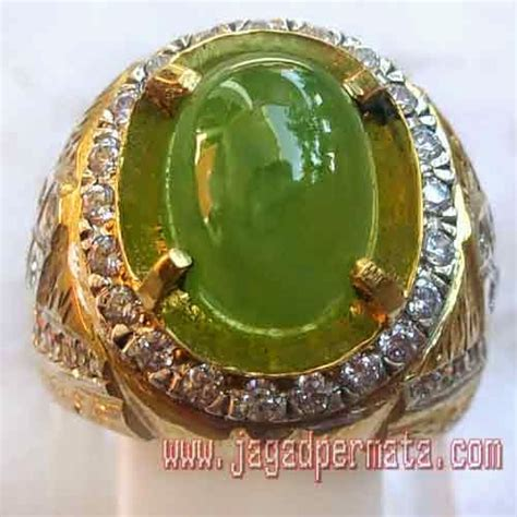 Indocrase Ring Perak idocrase cincin perak sepuh emas jual batu
