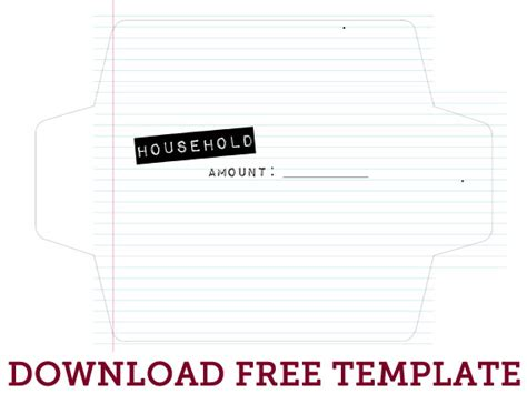 Cash Envelope System Free Printable The Mombot | cash envelope system free printable the mombot