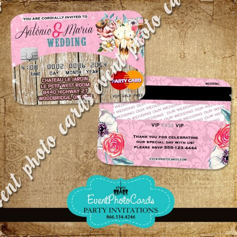 23 best credit card invitations images on quinceanera invitations invitations and