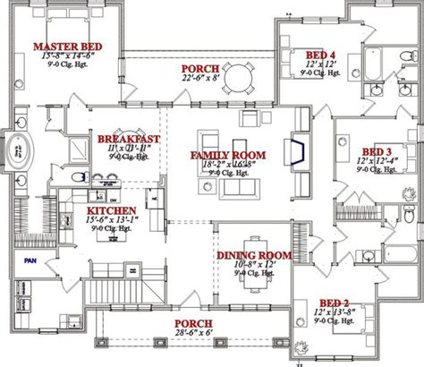 4 Bed Bungalow House Plans by 4 Bedroom Bungalow Floor Plans In Nigeria