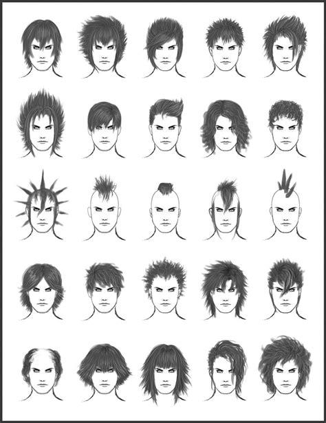 guy hairstyles drawing men s hair set 7 by dark sheikah on deviantart