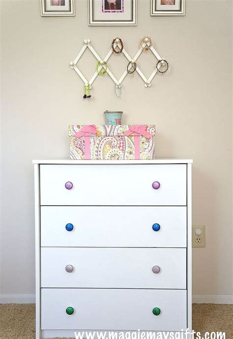build your own dresser cheap diy glitter dresser knobs easy and cheap hometalk