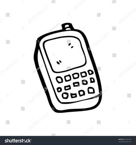 mobile dwg drawing mobile phone stock vector 51851524