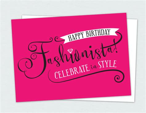 Happy Birthday To Me The Budget Fashionista by Happy Birthday Fashionista Card Product Line