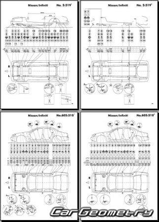 service and repair manuals 1997 infiniti j transmission control контрольные размеры кузова infiniti j30 y32 1992 1997 body repair manual