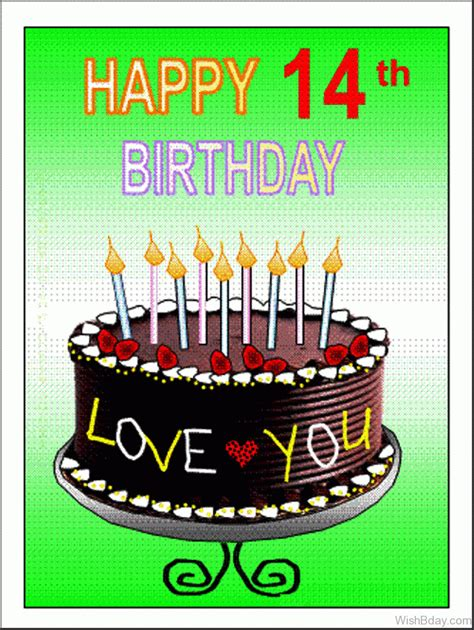 Birthday Quotes For 14 Year 51 14th Happy Birthday Wishes