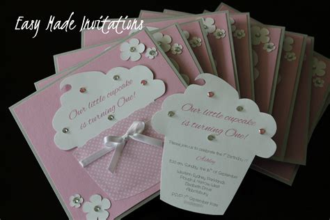 Handmade Birthday Invitations - cupcake handmade invitations card ideas