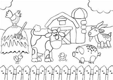 farm coloring pages farms free colouring pages