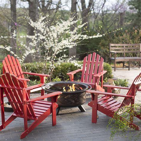 Firepit Chairs Coral Coast Pleasant Bay Adirondack Aspen Pit Chat Set Seating For 4 Pit Patio