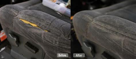 How To Repair Vinyl Upholstery by Photo Automotive Fabric Seat Repair Fibrenew Hamilton
