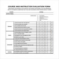 end of course evaluation template instructor evaluation form 7 free documents in pdf