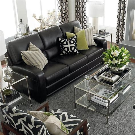 black furniture living room 25 best ideas about black leather sofas on pinterest