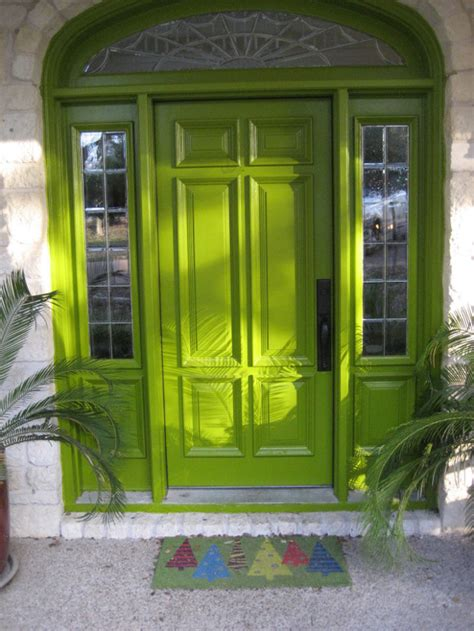 lime green door exterior doors what does your front door say about you