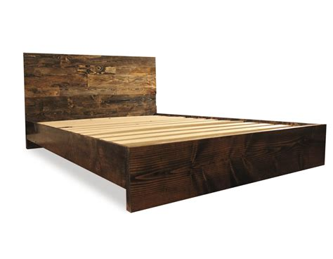 Platform Bed Frame Solid Wood Solid Wood Simple Platform Bed Frame Home Living By Pereidarice