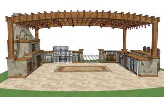 backyard plans spellbinding plans for a outdoor kitchen with cooking