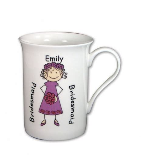 personalised bridesmaid cartoon mug just for gifts