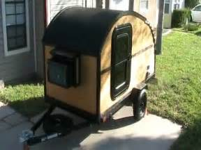 homemade teardrop trailer all made by hand on a harbor freight frame youtube